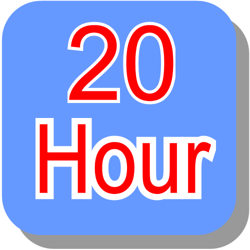 20 hour block booking