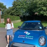Flora passed her driving test on 28 August 2019