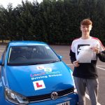 Tom passed his driving test on 28 October 2019